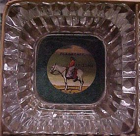 Vintage boxed souvenir ashtrays Indian woman on horse