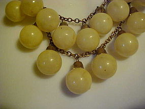 Antique celluloid bauble balls necklace