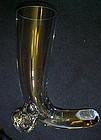 Svend Jensen Crystal horn vase pilsner glass Poland