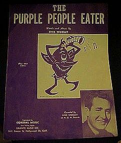 The Purple People Eater Sheb Wooley sheet music 1958