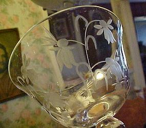 Colony Lily of the Valley cut crystal champagne sherbet