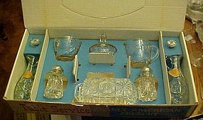 11 pc Anchor Hocking Early American Prescut  boxed set