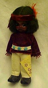 Vintage Carlson Navajo Brave Indian doll googley eyes