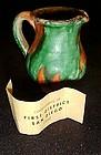 Souvenir miniature drip pottery pitcher San Diego 1952