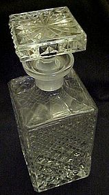 Wonderful quilted diamond design Crystal bar decanter
