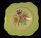 Colclough China square salad plate pattern 4783 green
