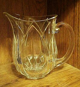 France clear glass petal pattern beverage pitcher