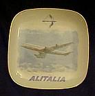 Verbano DC8 Jetliner souvenir ashtray Alitalia Airlines
