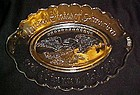 Avon glass Bicentennial platter with Eagle center 1976