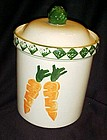 Treasure Craft Garden Patch cookie jar  sponged carrots
