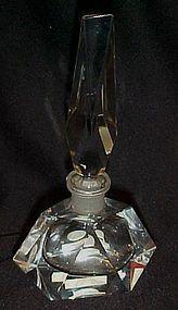 Vintage Hand Cut crystal perfume botle West Germany