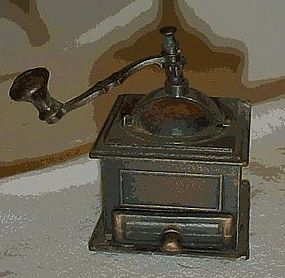 Collectible die cast  coffee grinder pencil sharpener