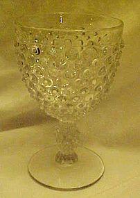 Duncan and Miller crystal hobnail water goblet