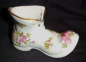 Old Foley Harmony Rose porcelain shoe figurine