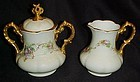 Antique hand painted G&C Limoges creamer and sugar set