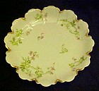 Antique Haviland fancy scalloped bowl trailing florals