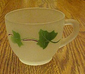 Federal satin punch cup with hand painted ivy pattern