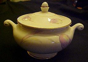 HLC Homer Laughlin Eggshell Nautilus Tulip sugar bowl