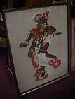 Amazing  Vintage  3-D Bali dancer Turner framed art