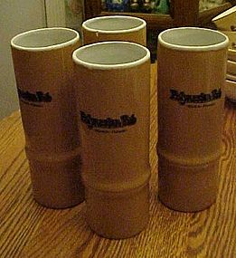 Bamboo shape drink glasses Polynesian Pub Waikiki