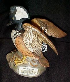 Ski Country miniature male Merganser duck decanter