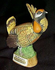 Ski Country Miniature whiskey decanter Prairie Chicken