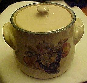 Home Garden Party fruit motif  bean pot cookie jar