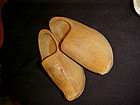 Vintage Childrens Dutch clogs wooden shoes, carved