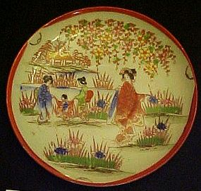 "Old Nippon Geisha ware Boys processional 5"" plate"