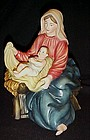 Large scale porcelain Mary and Jesus nativity figurine