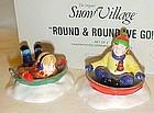 Dept 56 Round and round We Go Snow village pcs
