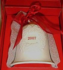 Hallmark 2007 Dated porcelain Christmas bell Boxed