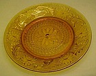 Tiara amber sandwich glass luncheon plate by Indiana