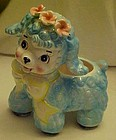 Vintage blue lamb ceramic nursery planter ADORABLE