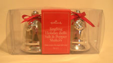 Hallmark Jingling Holiday bells salt pepper shakers MIB