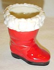 Vintage ceramic Santa Claus boot
