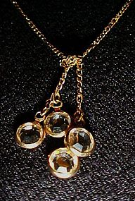 Avon matching crystal dangle necklace and post earrings