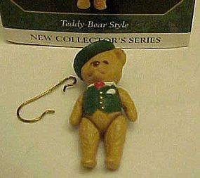 Hallmark Keepsake mini ornament  #1Teddy Bear Style