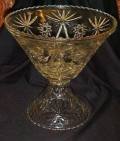 Anchor Hocking Early American  punch bowl and stand