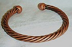 Vintage solid copper twist bracelet