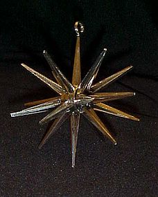 Vintage Sputnik atomic  star plastic ornament  1960's