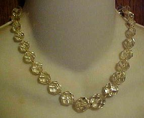 Beautiful vintage cut crystal choker necklace