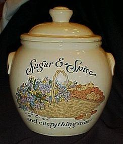 Treasure Craft Sugar and Spice cookie jar