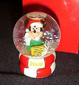 JC Penny 2006 Miniature Mickey Mouse Snow globe
