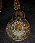 Vintage Avon pocket watch perfume bottle pendant