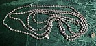 Vintage silver color glass mercury beads garland