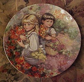 Mary Vickers Wedgewood plate Our Garden