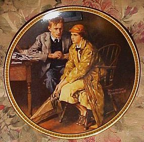 Norman Rockwell confiding in the den 11th plate