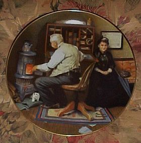 Norman Rockwell Keeping Company 7th issue plate