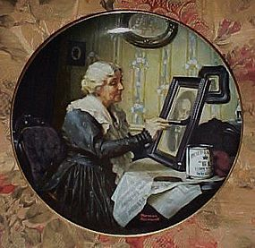 Norman Rockwell Grandma's Love 2nd issue plate